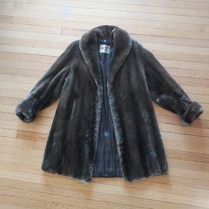 Jackets & Blazers - Lovely soft brown vintage Scottish fur coat
